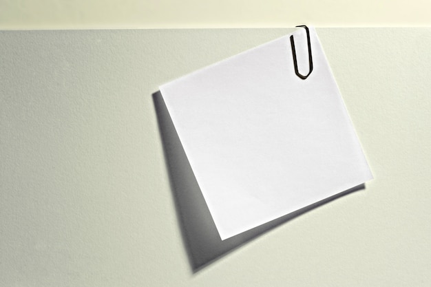 Blank memo attached to a document