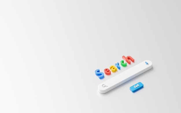 Пустое минимальное окно панели поиска на фоне интерфейса веб-сайта с кнопкой поиска или поиска.