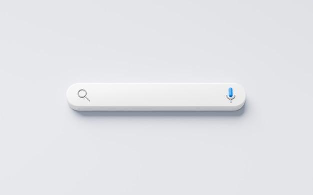 Пустое минимальное поле панели поиска на фоне интерфейса веб-сайта