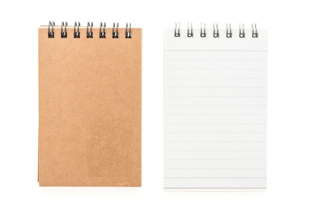 Blank mock up note book