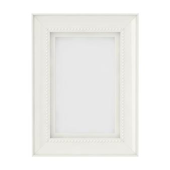 Пустой макет белой рамки для фотографий на белом фоне. 3d рендеринг
