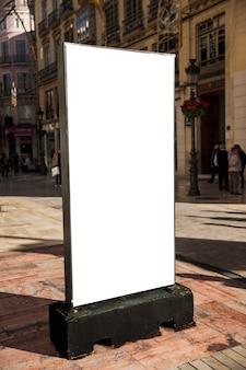 Blank mupi in city