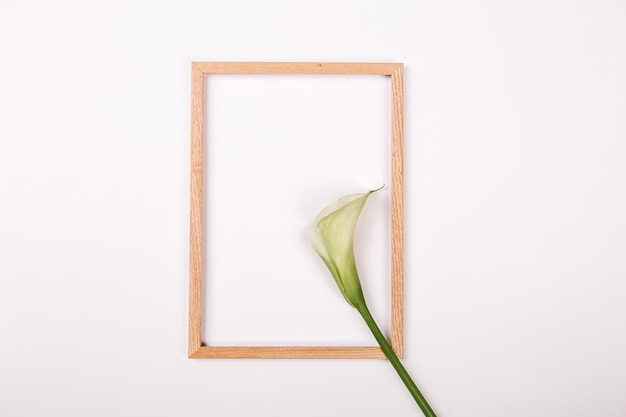 Blank notebook free flowers on white background