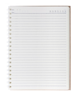 Blank notebook isolate with background