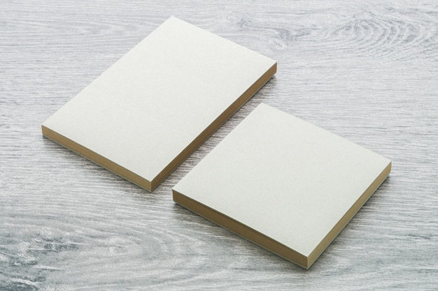 Blank notebook mock up