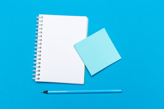 Blank notebook on the table