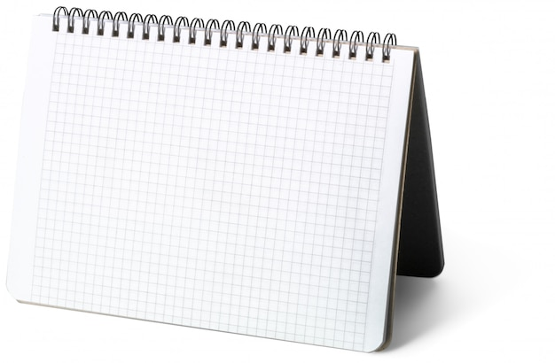 Blank notepad isolated on white background
