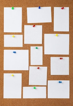 Blank notes with pins