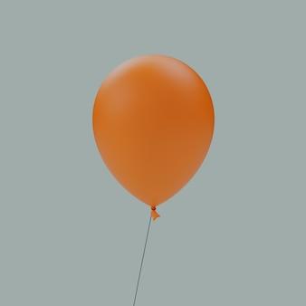 빈 오렌지 풍선 격리 된 3d 그림 렌더링