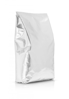 Blank packaging aluminum foil pouch isolated