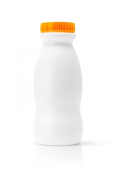 Blank packaging beverage plastic bottle isolated with clipping path