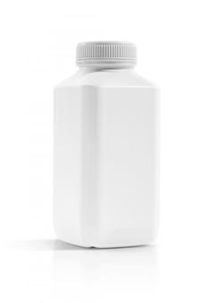Blank packaging beverage plastic bottle isolated