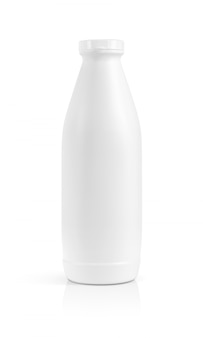 Blank packaging beverage plastic bottle isolated