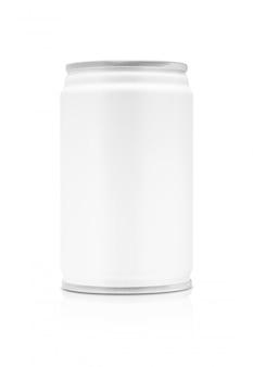 Blank packaging beverage tin can isolated