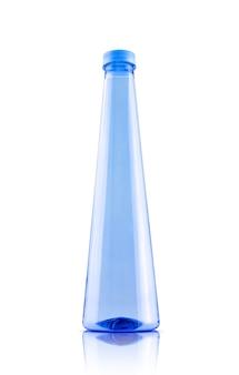 Пустая упаковка синяя прозрачная пластиковая бутылка для дизайна питьевой или минеральной воды