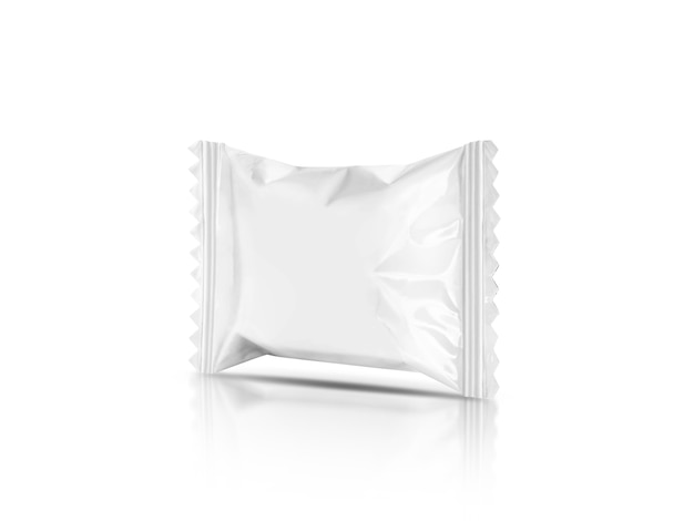 Blank packaging candy palstic sachet isolated