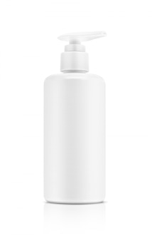 Blank packaging cosmetic pump bottle isolated