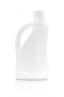 Blank packaging detergent bottle isolated on white background with clipping path