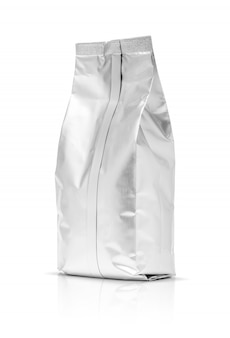 Blank packaging foil pouch isolated