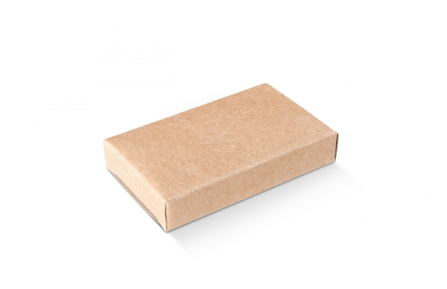 Blank packaging kraft recycled paper box for product