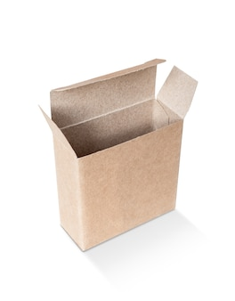 Blank packaging opened kraft recycled paper box for product