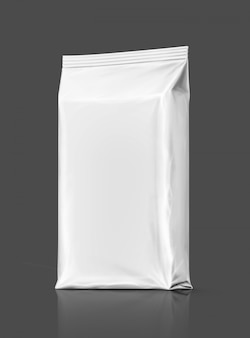 Blank packaging paper wet wipes pouch isolated