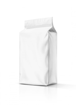 Blank packaging snack paper pouch isolated