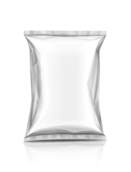 Blank packaging snack pouch isolated