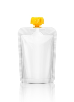 Blank packaging squeeze pouch isolated
