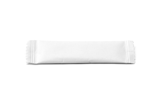 Blank packaging sugar paper sachet isolated
