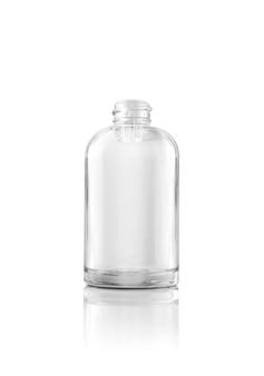 빈 포장 투명 유리 dropper 혈청 병 흰색 절연