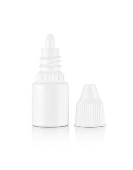 Blank packaging white plastic bottle for eyes dropper medicine isolated