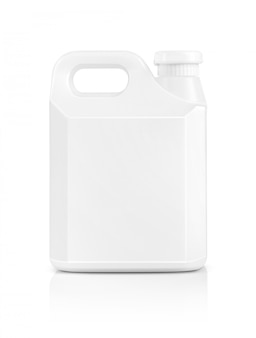 Blank packaging white plastic gallon isolated