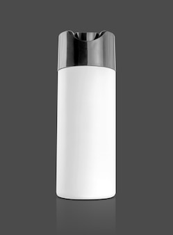 Blank packaging white plastic shampoo bottle for toiletry or sanitation product design