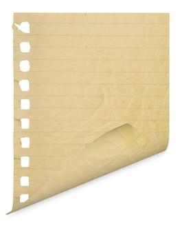 分離された白の空白のページ
