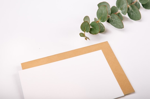 Blank page wooden tablet white background