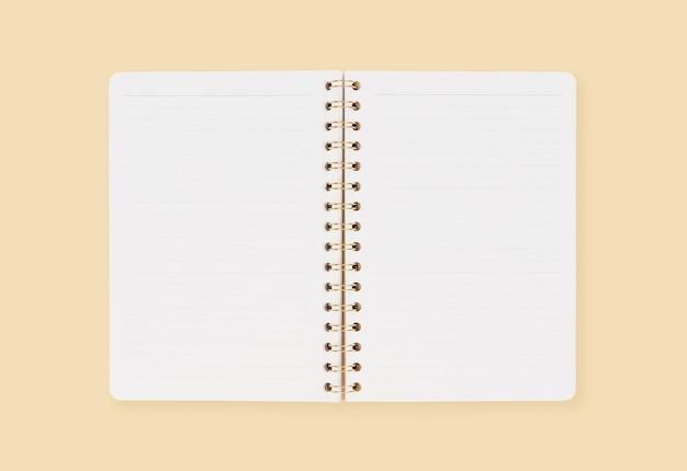 Пустые страницы на открытой записной книжке