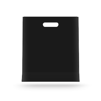 Blank paper bag mock up isolated.