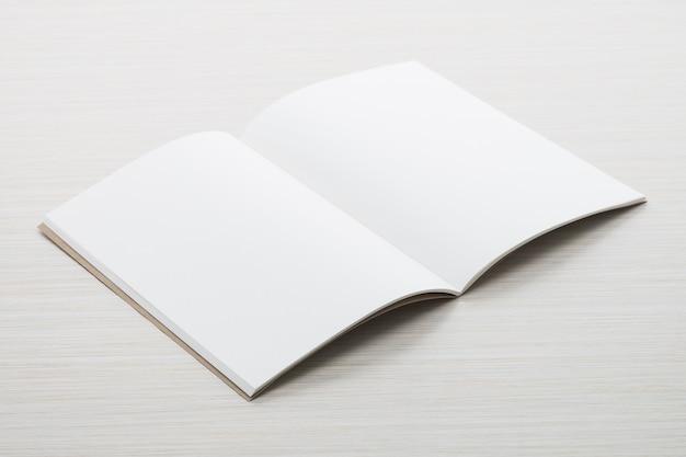 Blank paper mock up