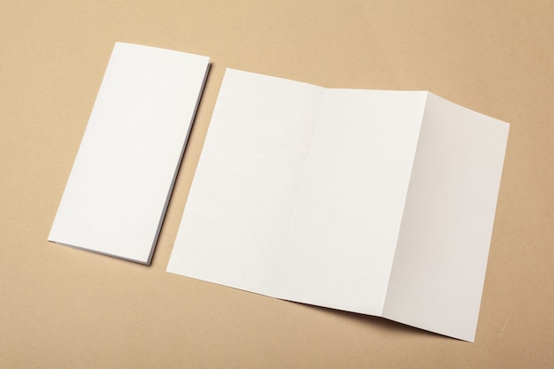 Blank paper pieces of brochure