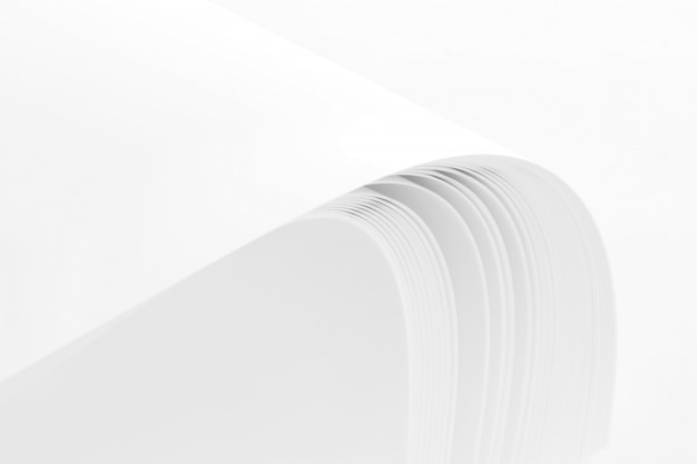 Blank paper stack  isolated on white background