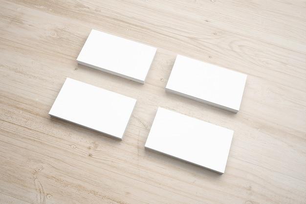 Blank paper stationery set on wooden desk