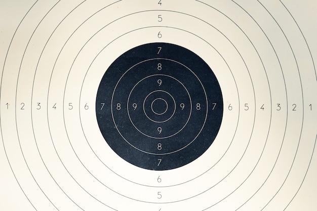 Blank paper target with shooting range numbers