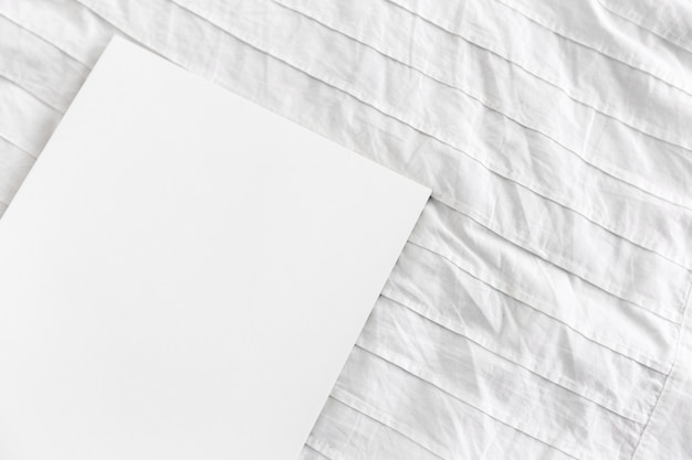 Blank paper on white background.