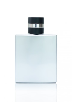 Blank perfume contain bottle isolated