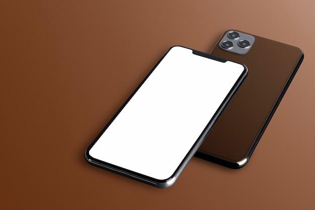 Пустой экран телефона с задней стороны телефона