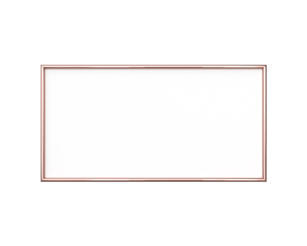 Blank photo frame isolated. horizontal size