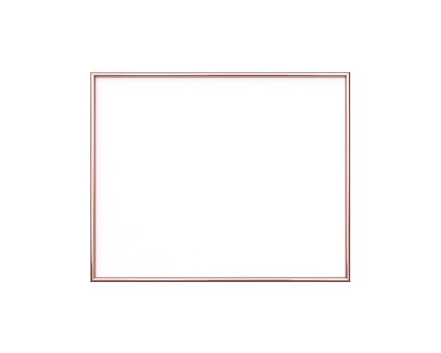 Blank photo frame isolated. square size