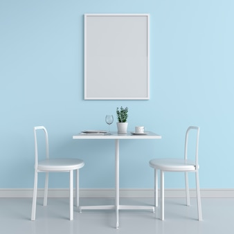 Blank photo frame for mockup on wall