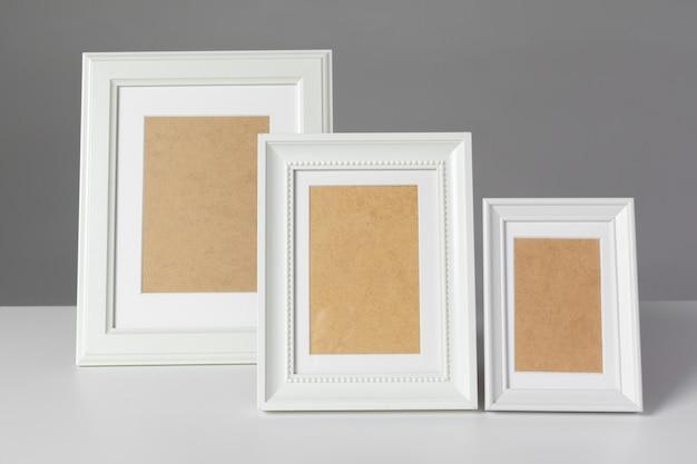 Blank photo frame on the table